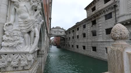Bridge of Sighs also called Bridge of Sighs in Venice without people