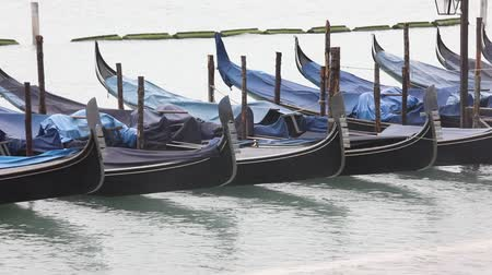 Gondolas are the typical boats in Venice Dostupné videozáznamy