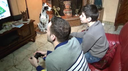контроллер : Playing video games at home