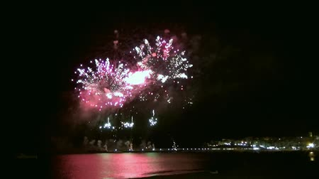 rachotit : Fireworks by nigth in the harbour