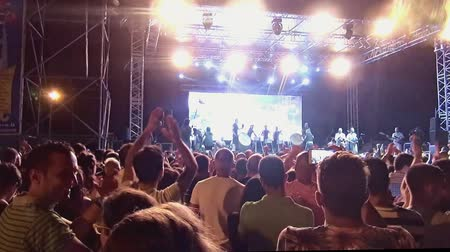 cümbüş : Vincenzo Avitabile in concert, Meeting del Mare, July,2015, Marina di Camerota, Italy Stok Video