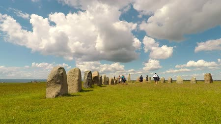 kő : Ales standing stones (Ales stenar) from the the Bronze Age. Time Lapse.
