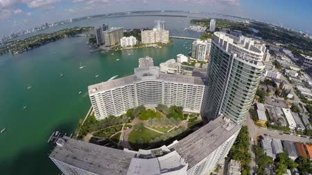 flaming : Miami Beach architecture 4k video