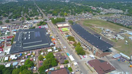 iowa : Aerial Iowa state Fair 4k video