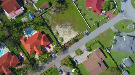 přešel : Aerial drone flying over a neighborhood