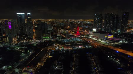 Video aéreo Lights of Downtown Miami