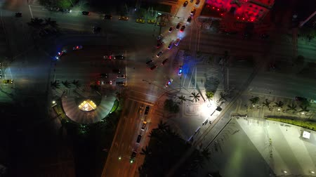 drone miami : Police directing traffic Downtown Miami