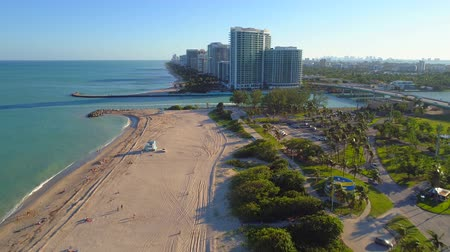 Luchtvideo Haulover Bal Harbour inham drone 4k Stockvideo