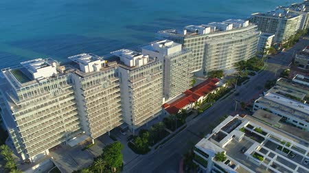 Aerial video of the new Surfclub and Four Seasons Resort Surfside Miami FL