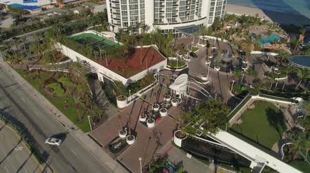 Trump Palace and Royale aerial video Sunny Isles Beach 4k