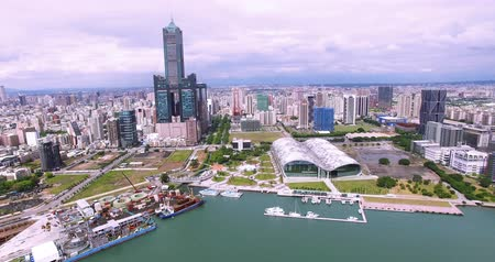 tower bridge : Aerial view of the city in Kaohsiung - Taiwan