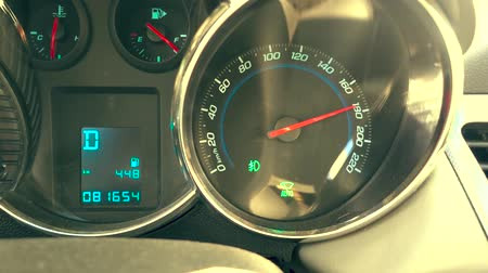 kilometer : Speedometer of 180 kmh Stock Footage