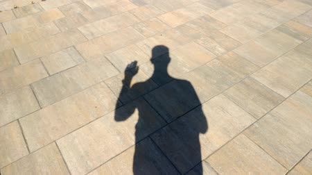frightful : The shadow of a man shows gesture