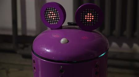 žába : The robot with the head of a purple frog moves his eyes Dostupné videozáznamy