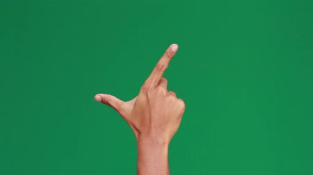 página : Hand zooming on screen. shoot over green screen Vídeos