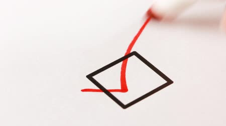 poll : Hand checked a single checkbox with red marker