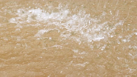 close-up regendruppels water Stockvideo