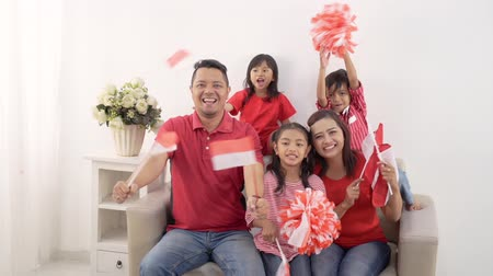 family indonesia celebrating independence day