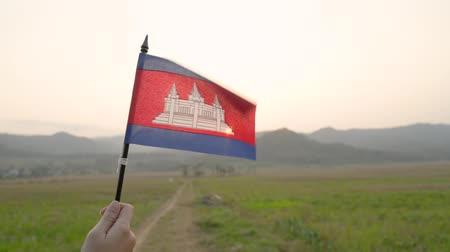 カンボジア : The national flag of Cambodia