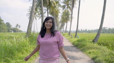 malaya : asian woman summer day in tropical island