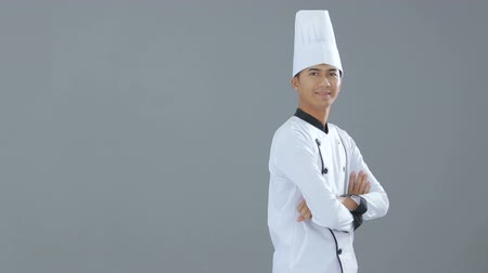 hajtogatott : chef smiling to camera