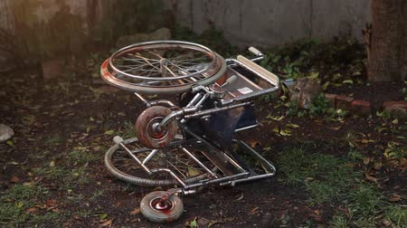 nuclear accident : Bloody Wheelchair in the Rain