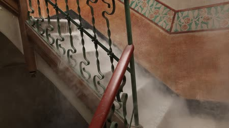 assombro : Ghostly Smoke In The Stair Stock Footage