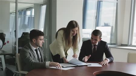jurist : The staff of the publishing agency at work. Stock Footage