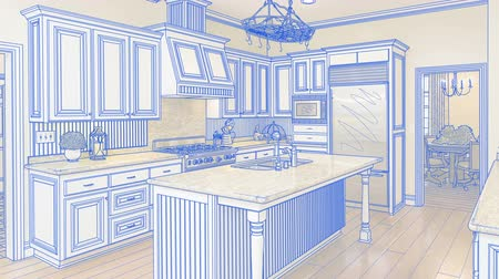 zvyk : Transition Of Beautiful Custom Kitchen From Drawing to Completion. Dostupné videozáznamy