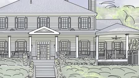 szkic : Transition Of Beautiful Custom Home From Drawing to Completion.