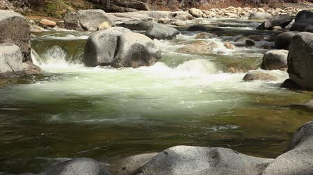 Looping Seamless Cinemagraph of Flowing Mountain River.