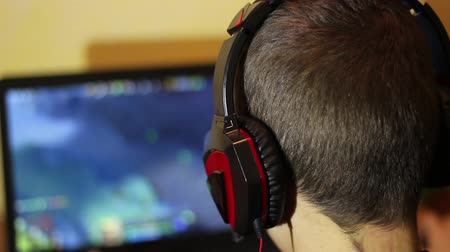 gameplay : eSports. Teenager playing a video game. Strategy video game