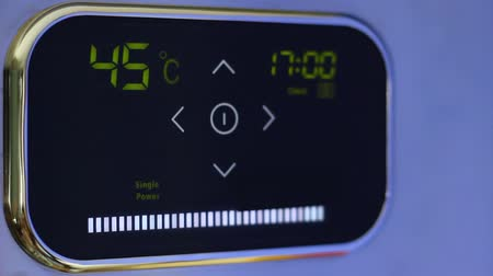 termostat : Touch wi-fi thermostat for smart home with touchscreen color display. Energy saving mode. Control from phone