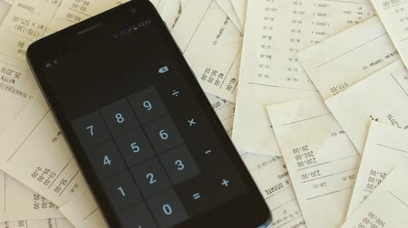 planejador : Keeping track of receipts. Money management. Sales receipts for purchasing of the goods Vídeos