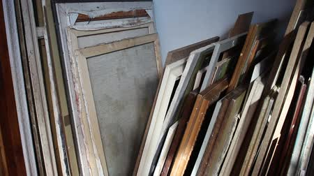 organizing : Art storage shelves. Storing canvas, frame, papers and boards
