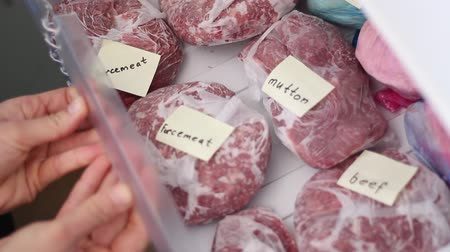 stuffing : Deep-freezing of meat products. Organized Freezer Drawers. Frugal living