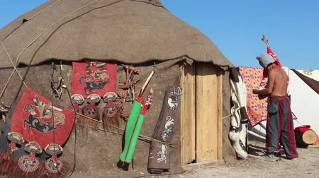 skins : Nomads Camping In The Steppes Of Central Asia