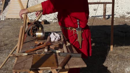 legionary : Roman Armourer. Gunsmith tools in ancient Rome