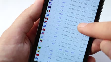 cytat : Exchange rates display in smart phone. On line Rates table. Market Analysis. Foreign exchange market. Fluctuations in exchange rates. List of circulating currencies by state