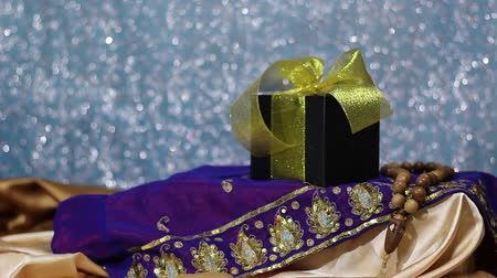 fete : Ramadan Kareem! Islamic Giveaways. Chocolate Gift Box for children. Ethnic design Stock Footage