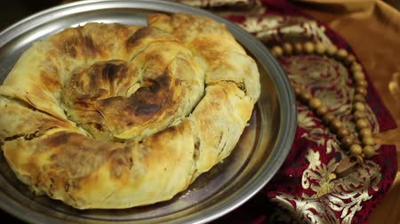 iftar : Ramadan Fasting. Iftar meal. Burma is a dish of Crimean Tatar cuisine, in the form of a roll with a filling