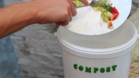 leftover : Food waste for biodegraded by composting, and reused to fertilize