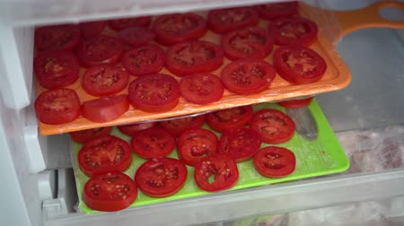 blanching : Freezing Raw Tomatoes. Spread vegetables in a single layer on a large sheet for freeze