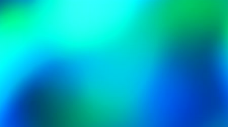 Abstract vivid green and blue colors background. Moving light show