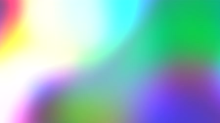 Rainbow Gradient. Holographic foil neon iridescent abstract motion background. Luminous surreal blurred moving gradient Stock Footage
