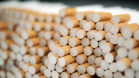 carcinogenic : filter cigarettes Stock Footage