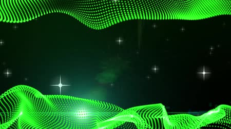 papel de parede : frame. Motion Graphic Elements green. graphic wave. the shape are particles. background