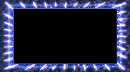 garniture : Blue animation frame with a rotating star Alpha channel Looped video