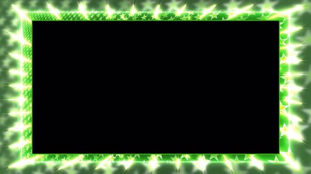 garniture : Green animation frame with a rotating star Alpha Channel Looped video