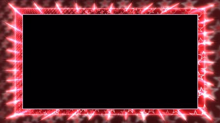 garniture : Red animation frame with a rotating star Alpha Channel Looped video